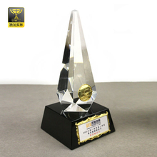 glass crystal memento decorative plaque trophy