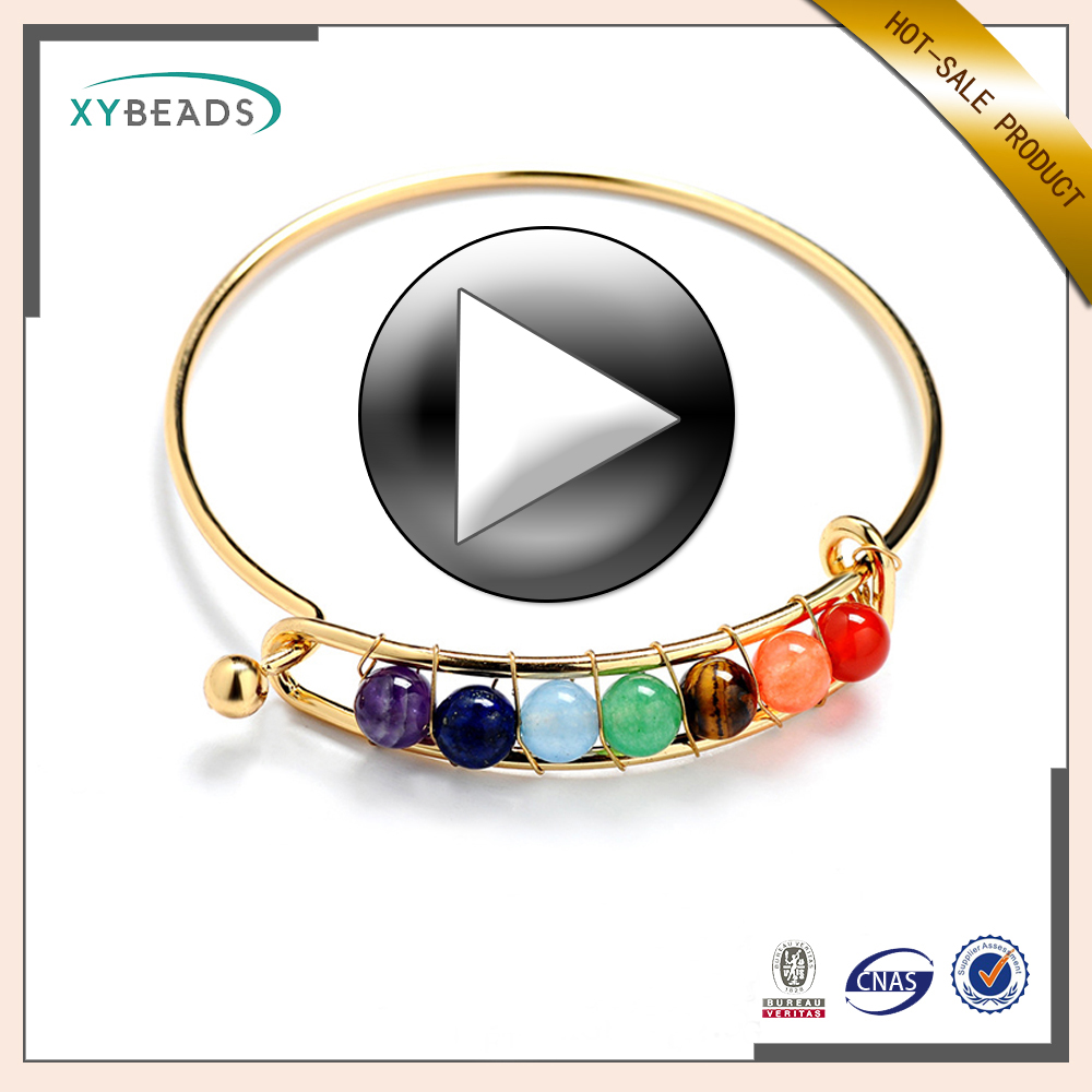 2017 Fashion new design Stone and Gold bangle making