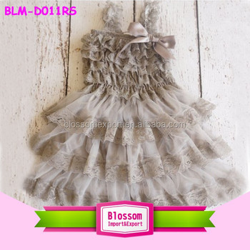 Wholesale children boutique clothing frock lace strap tutu style high quality fashion puffy little baby girls dresses for 2-7 t