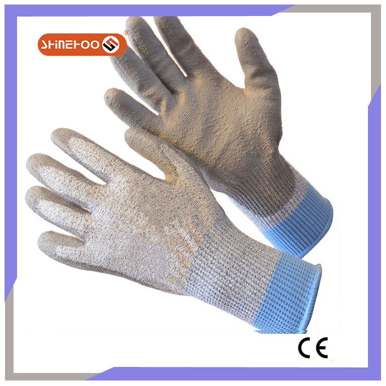 SHINEHOO Cut & Puncture Resistant PU Coated Gloves