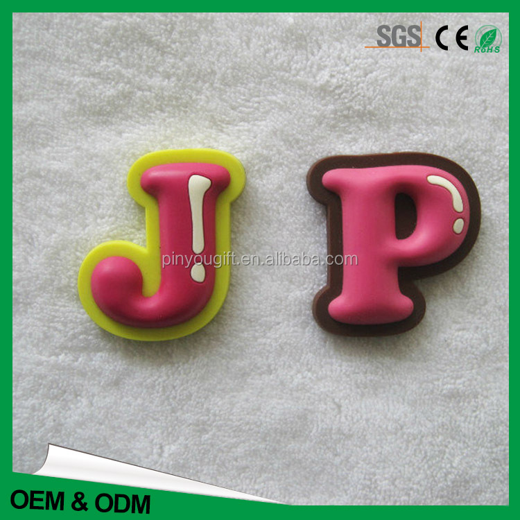 3D logo fridge Popular custom made ABC letters refrigator magnet