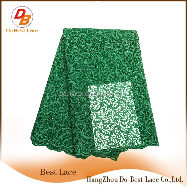 Ручная вышивка дизайн зеленый кружевной ткани топ продаж моды французского кружева для свадьбы Необычные бусы африканская Тюль Кружева
