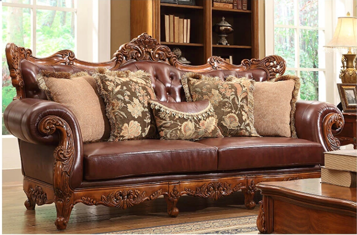 American classic style luxury cowskin genuine leather American classic furniture company