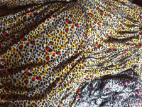 100% rayon challis printed and dyed fabric