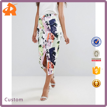custom made pattern fashion skirt,hot sale ladies short skirt designs