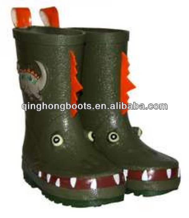 cool kids nature rubber dragon rain boots