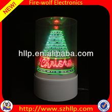 2014 hot sale wholesale led 3D usb christmas tree paper toy manufacture