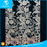 SPR-L080 indian lace fabric in rolls eyelash lace fabric mesh fabric