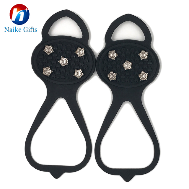 Durable Safety Winter Silicone Anti-slip Ice Grip / Spike / Cleat / crampons for shoes