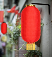 Foldable Cylinder Chinese Silk Lantern for Spring Festival