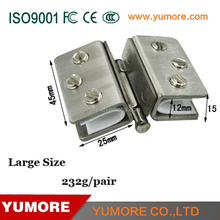 Sqare-shaped double side hose stainless steel hinges sauna glass doors clamp for threaded rod