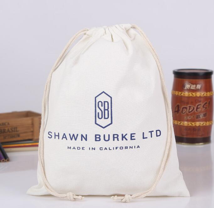 100% eco friendly drawstring cotton dust <strong>bag</strong> for shoe packaging