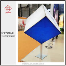 supermarket advertising lighting box with aluminium frame and fabric printing
