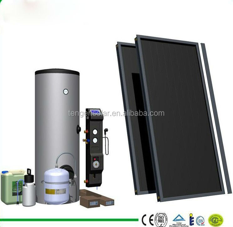 China manufacturer 300L Split pressure flat plate solar thermal water heater heating system
