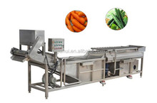 Round fruit and vegetables brush roll spray cleaning machine