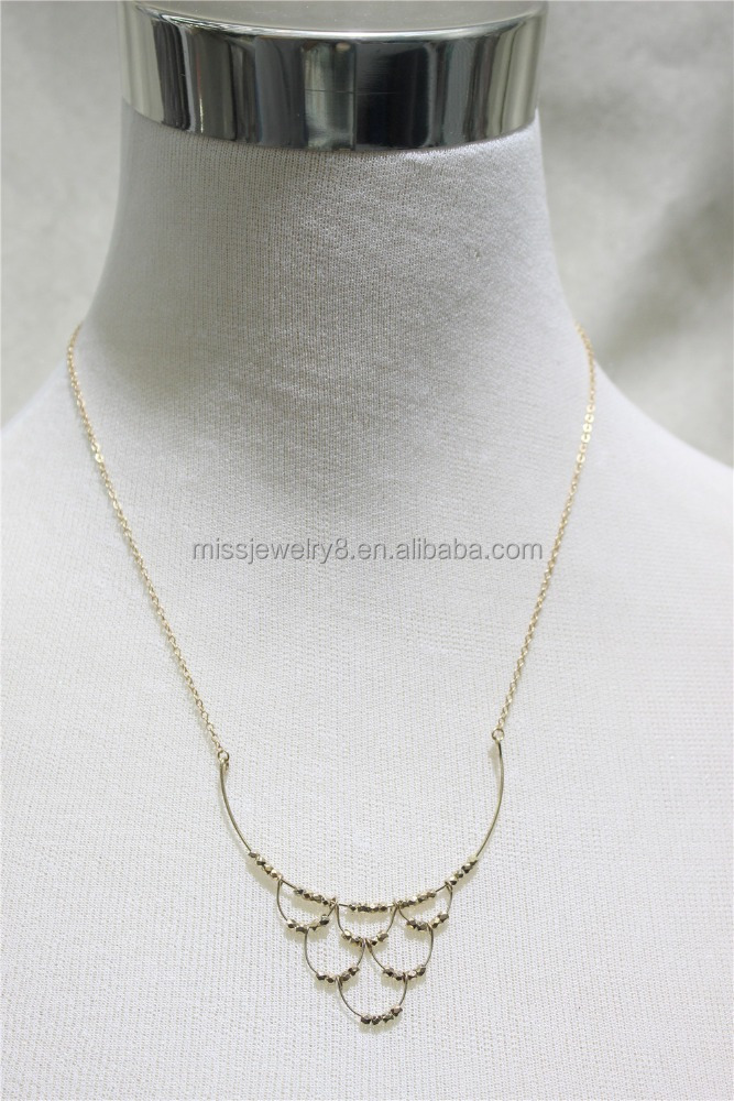Cheap Short Chain Tiny Goldtone Beads Hanging 2016 Fashion Style Wholesale