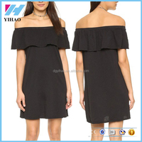 clothing manufacture short dress hot sex woman pictures off shoulder dress