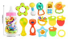 13Pieces plastic can Baby early learning advanced plastic baby rattle