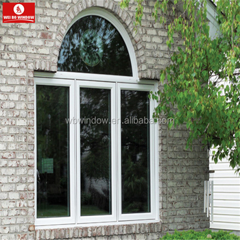 New pvc window arch design upvc interior sliding glass window