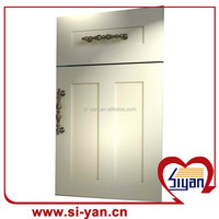 pvc pressed cheap kitchen and bedroom cabinets and doors