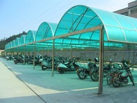 aluminum bicycle carport with arched roof