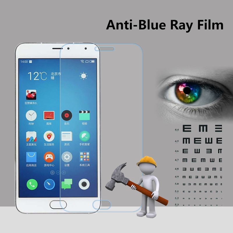 For android smartphone anti-blue ray screen film for Meizu M1 metal anti-shock screen guard