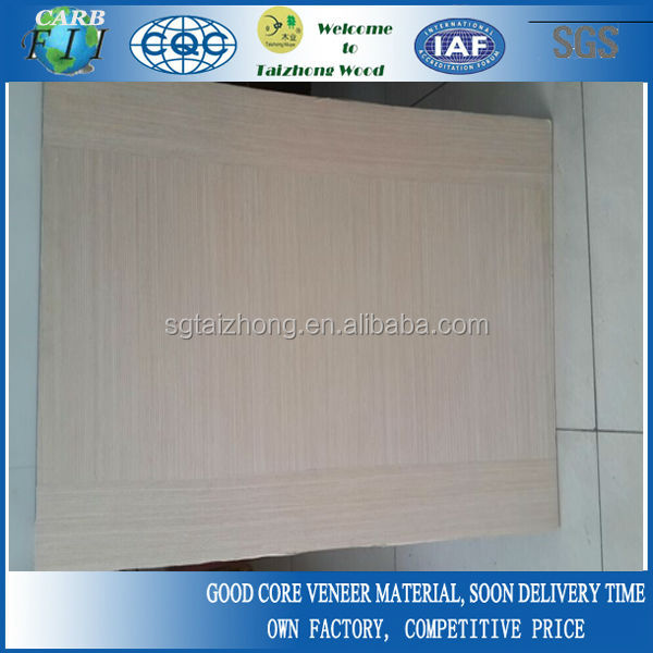 4mm Straight Grain Ash Veneer Door Skin Plywood