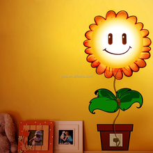 New Wallpaper Stickers Paper Wall Lamp Novelty Kid Baby Bedroom 3d illusion night lamp