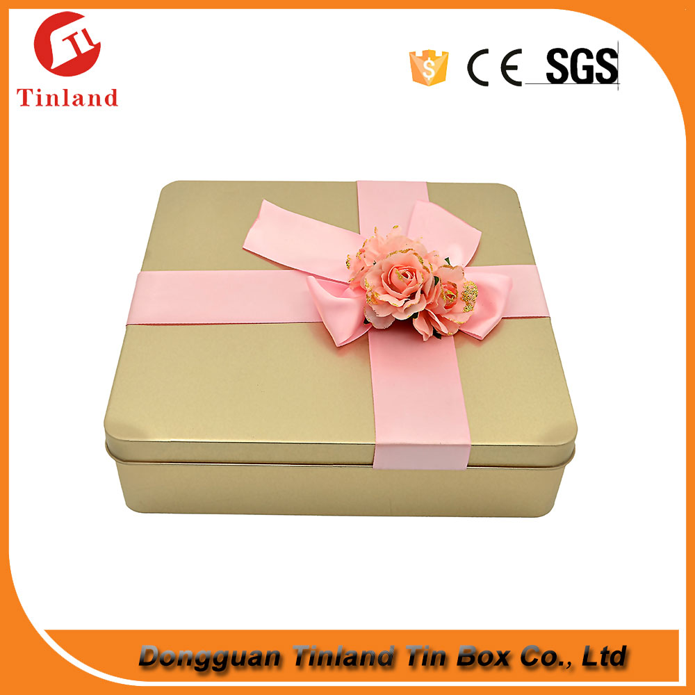 Metal Material Wallet Tin Box For Girls