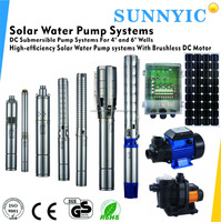 High-efficiency brushless DC motor solar water pump