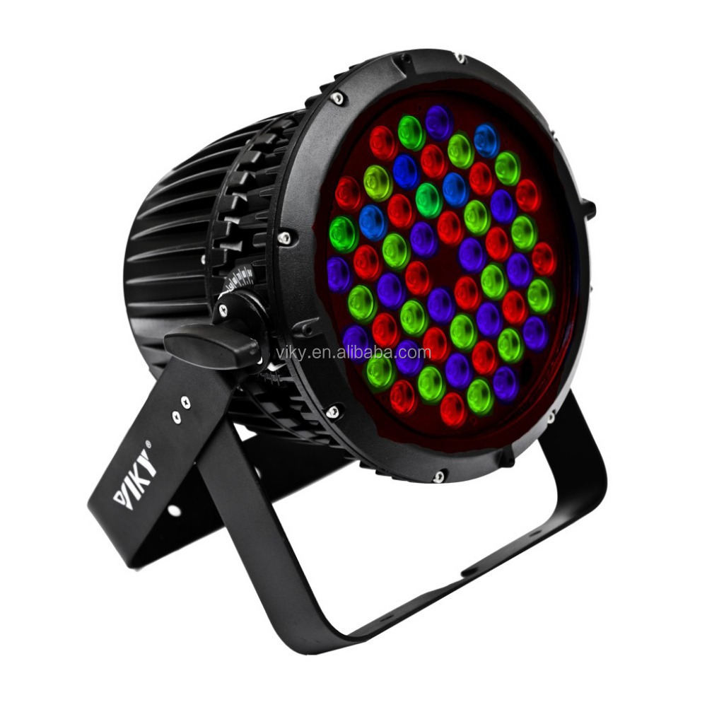 IP67 waterproof RGBW 54x3w LEDs outdoor scene led par light led flat par light