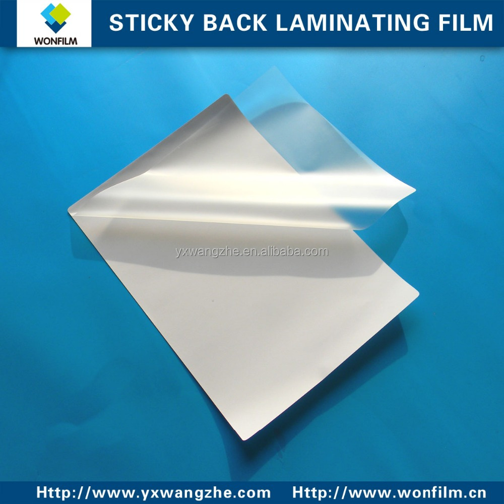 high glossy laminating sticky back film for laminator