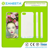 Sublimation Custom Cases 3D Printable Blank Sublimation Polymer Cell Phone Cover For Apple iPhone5C
