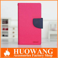 Wallet flip PU leather stand case cover for sony xperia z l36h , colorful leather for sony xperia z case