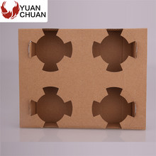 Corrugated cardboard cup trays for hot beverage
