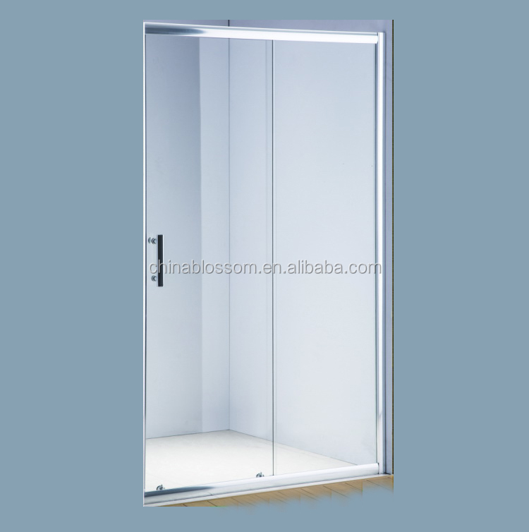 Hangzhou Blossom 1200mm Sliding Obscure Glass Shower Door With