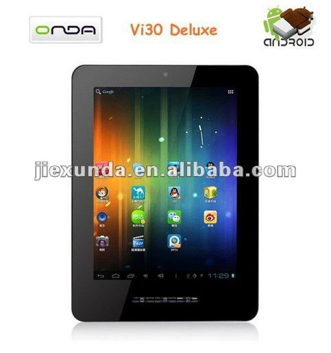 "8"" Onda Vi30 deluxe Allwinner A10 1.2GHz Android 4.0 Resolution 1024x768 Capacitive Tablet PC"