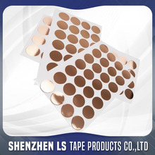 Custom Die Cut Adhesive Sheets Copper Circles