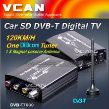 Newest one tuner MPEG2 H.264 car DVB-T receiver dvb-t hd car tv tuner digital converter box best buy for sale