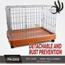 China hot selling foldable wire iron dog cage pet crate rustproof metal dog cage