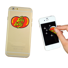 customized produced reusable screen cleaner sticker mobile phone