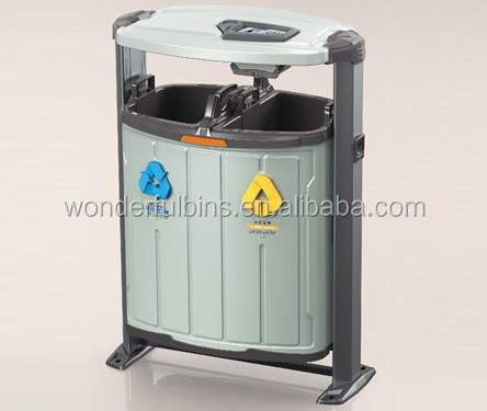 Outdoor metal trash bin with CE/ROHS certificate (DS-01)