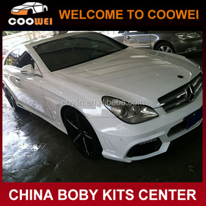 04-09 FRP W219 WD Style body kit for Ben-z CLS Class(Front rear bumper,side skirts,fenders)