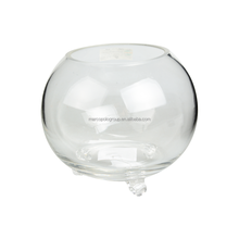clear round glass fish tank made in China