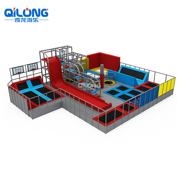 Newest Professional Safety Customized Size Trampoline Park For Sale