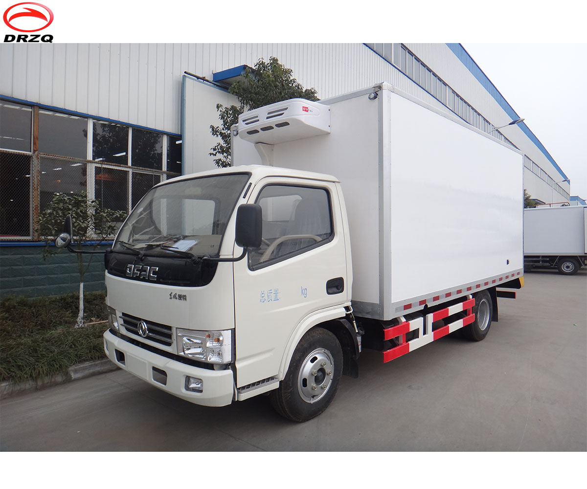 5m length minus 5 degree frozen meat refrigerated truck