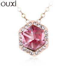 OUXI 2015 New designs large natural gemstone necklaces jewelry 10656