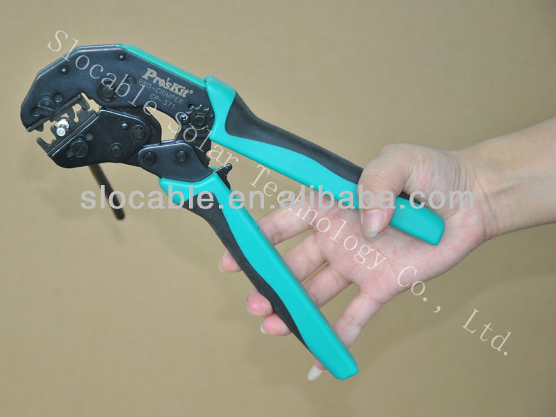 Wire crimping tools for connectors and terminals, solar connector crimping plier