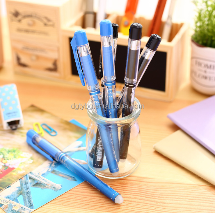 2017 NEW frixion erasable ball pen, colors rubber earsable pen, good quality eraser ink pen for student wrinting