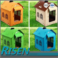Low price wholesale collapsible pp coroplast dog plastic box house